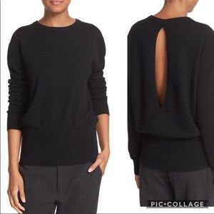 Vince Open Back 100% Cashmere Sweater